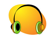 Headphone illustration Royalty Free Stock Image