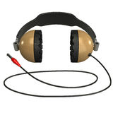 Headphone Isolated 3D Royalty Free Stock Images
