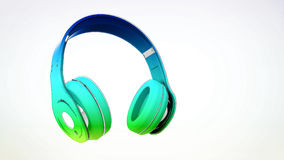 Headphone. On an isolated background Royalty Free Stock Image