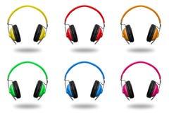 Headphone isolated on white background royalty free stock images