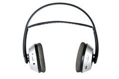 headphone isolerad vit radio Arkivfoto