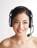 Headphone Lady Stock Image