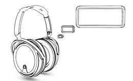 Headphone with message box Royalty Free Stock Photo