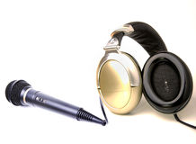 Headphone and mic Royalty Free Stock Photography
