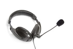Headphone with microphone stock photo
