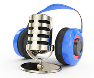 Headphone and microphone Royalty Free Stock Images