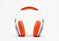 Headphone. Orange on white background Royalty Free Stock Images