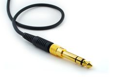 Headphone plug Stock Photo