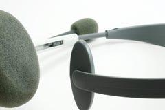 Headphone set. Close up on white Stock Images