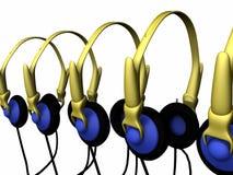 Headphone sets Stock Photography