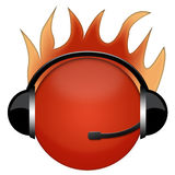Headphone sign fire royalty free stock image