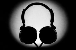Headphone Silhouette. Image of a silhouette of a pair of headphones Stock Photography