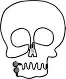 Headphone Skull Royalty Free Stock Photography