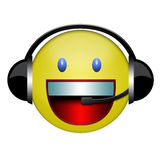 Headphone smile sign Stock Images