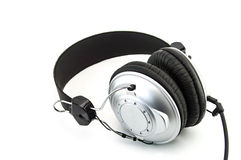 Headphone som isoleras på vit Royaltyfria Foton