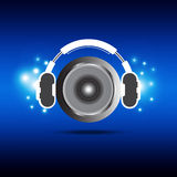 Headphone and speaker Royalty Free Stock Images