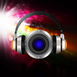 Headphone with speaker  on  abstract  background Royalty Free Stock Photo