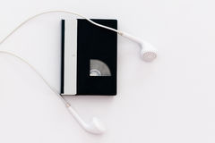 Headphone and tech music Stock Images