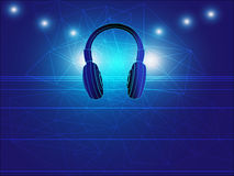 Headphone techno background vector illustration Stock Photography