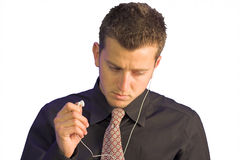 Headphone test Royalty Free Stock Photos