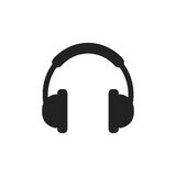 Headphone vector icon. Earphone headset sign illustration Royalty Free Stock Photo