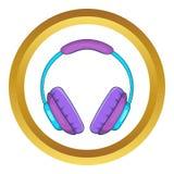 Headphone vector icon Royalty Free Stock Photo