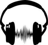 Headphone, music, wave, frequency Royalty Free Stock Photo