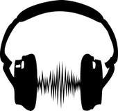 Headphonen musik, vinkar, frekvens Royaltyfri Foto