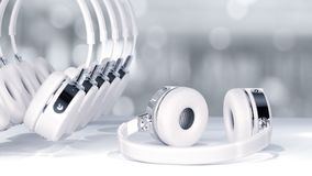 Headphone white color Royalty Free Stock Photo
