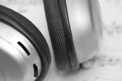 Headphone on white page Stock Image