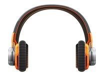 Headphoneapelsin Royaltyfri Bild