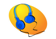 headphoneillustration Arkivbilder