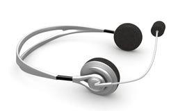 Headphones. 3d render- headphones on white background Royalty Free Stock Photography