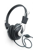 Headphones. Stereo headphones for listening of qualitative music Stock Images