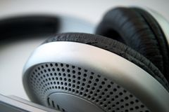 Headphones. A pair of anti-noise headphones Royalty Free Stock Images