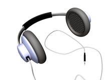 Headphones. 3d computer generated headphones over white background Stock Photos