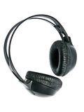 Headphones. Black headphones closed type on a white background. Isolated Royalty Free Stock Image