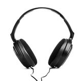 Headphones. Black headphones on white background Royalty Free Stock Images