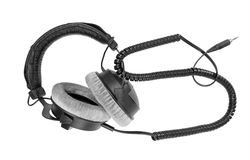 Headphones. Stereo headphones on white background Stock Photos