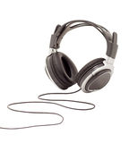 Headphones. Unbranded modern headphones on a white background stock images