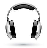 Headphones. Vector illustration of headphones on white background Stock Photo