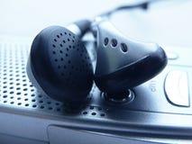 Headphones. Mp3 player headphones Royalty Free Stock Photos