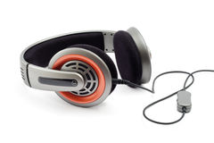 Headphones. With cord, shot on white Royalty Free Stock Image