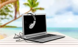 headphones Fotografia de Stock Royalty Free