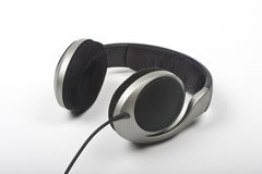 Headphones. Cord headphones on white background Royalty Free Stock Images