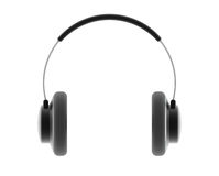 Headphones. Audio earphone. Digitally generated image Stock Image