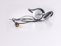 Headphones. Taken in natural light. Short depth of field, focus set on jack tip Royalty Free Stock Image