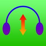 Headphones adjustable  Royalty Free Stock Photos