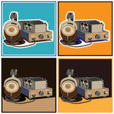 Headphones and amplifier set Stock Images
