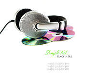 Headphones And CD Stock Photos